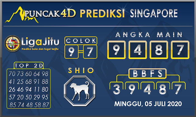 PREDIKSI TOGEL SINGAPORE PUNCAK4D 05 JULI 2020
