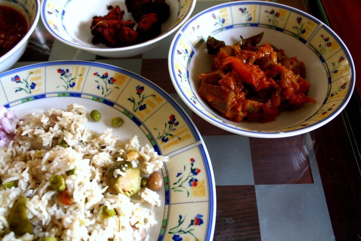 Kathirikai curry for chapathi - Cook and Post  Kathirikai curr...