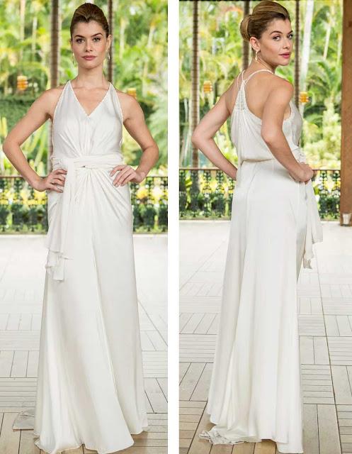 Diana (Aline Moraes) vestido de noiva