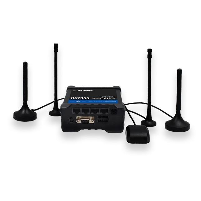 Teltonika RUT955 - Roteador industrial 4G LTE Cat.4, WiFi, Dual Sim, GPS, 1x WAN, 3X LAN, roteador GPS, RUT955 T033B0