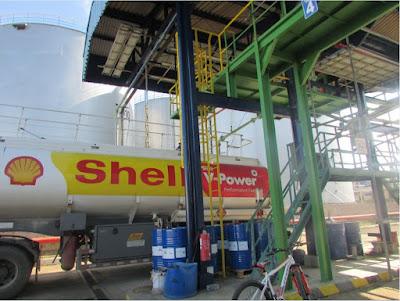 Petroleum Gantry Shell Indonesia at Redeco Merak Terminal