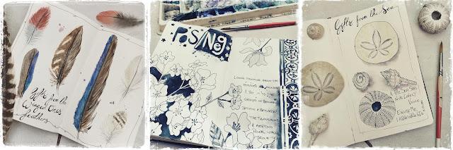 Sketchbook Challenge Galia Alena feathers