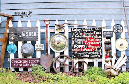 Junk Garden Gallery Fence