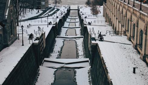 Rideau Canal Ottawa Canada Winter