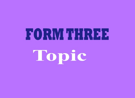 GEOGRAPHY FORM THREE: TOPIC 1: STRUCTURE OF THE EARTH - GEO