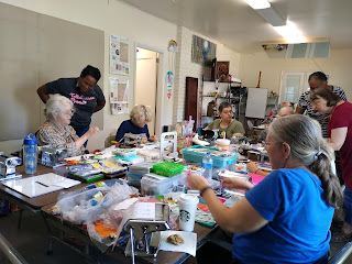 Members of the Tallahassee Polymer Clay Guild participate in Clay-bor Day 2019.