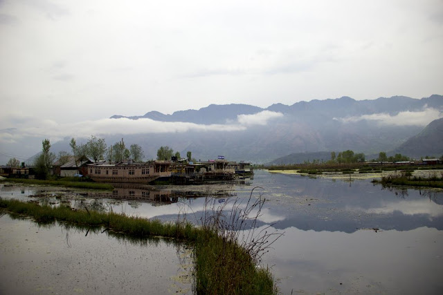 dal lake srinagar kashmir india mountains valley