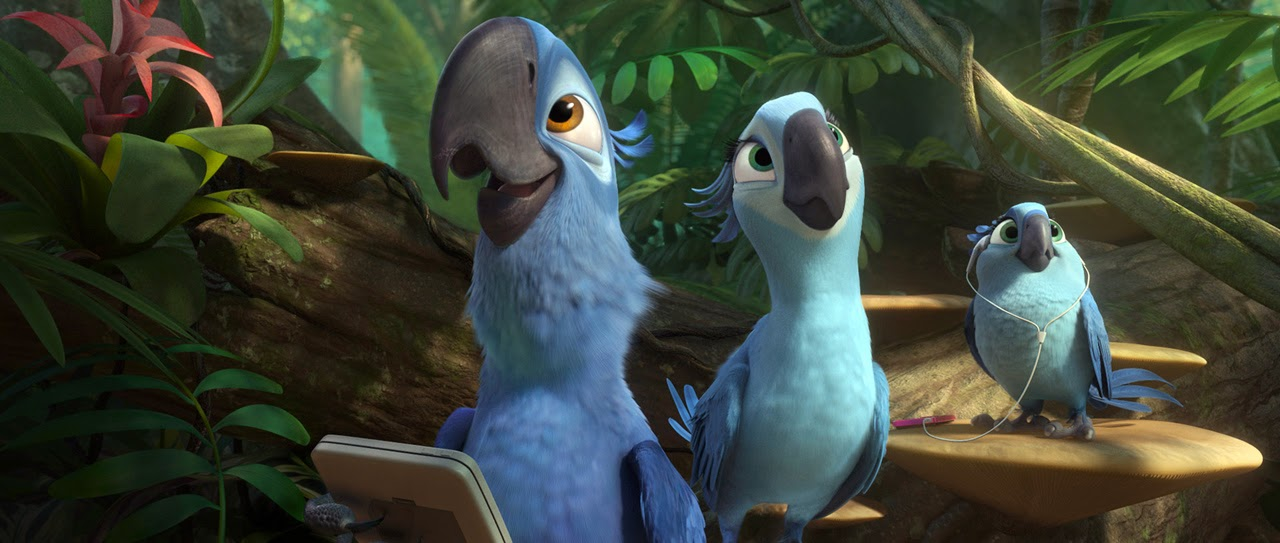 Blue and Jewel in Rio 2