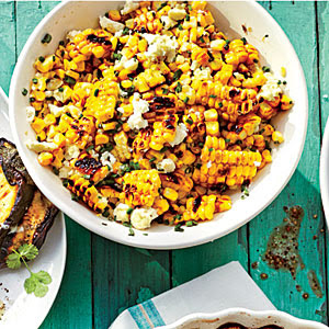 Grilled Mexican Corn Salad, shared by Home Cooking Recipes at The Chicken Chick's Clever Chicks Blog Hop