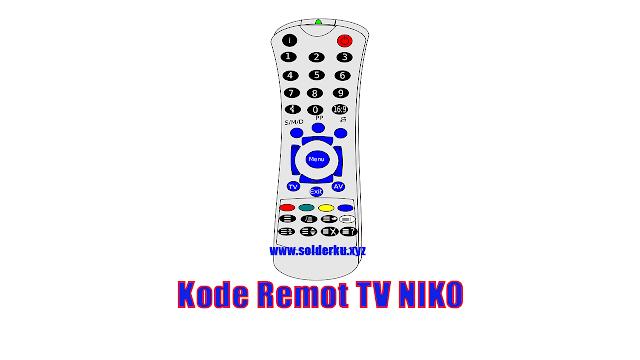 Kode Remot TV NIKO