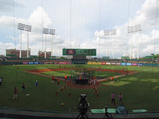 Nome to center, ChengCing Lake Baseball Stadium