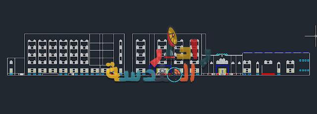 مشروع تصميم مستشفى  الرعاية الأولية dwg