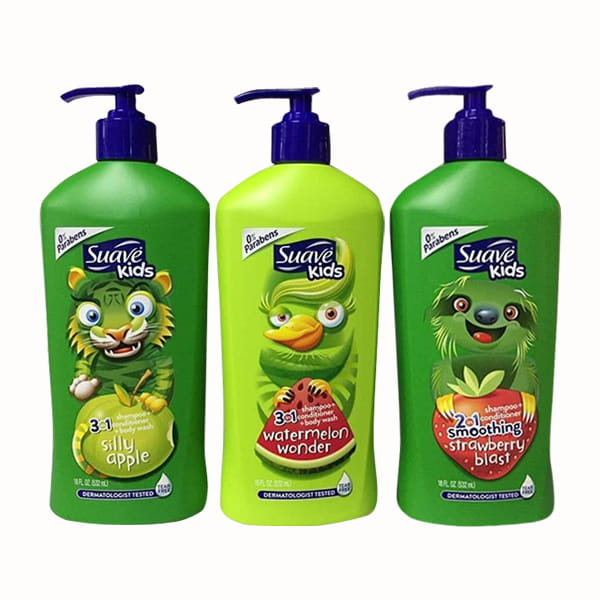 Sữa tắm-gội-xả Táo xanh SUAVE KIDS 3IN1 – Silly Apple