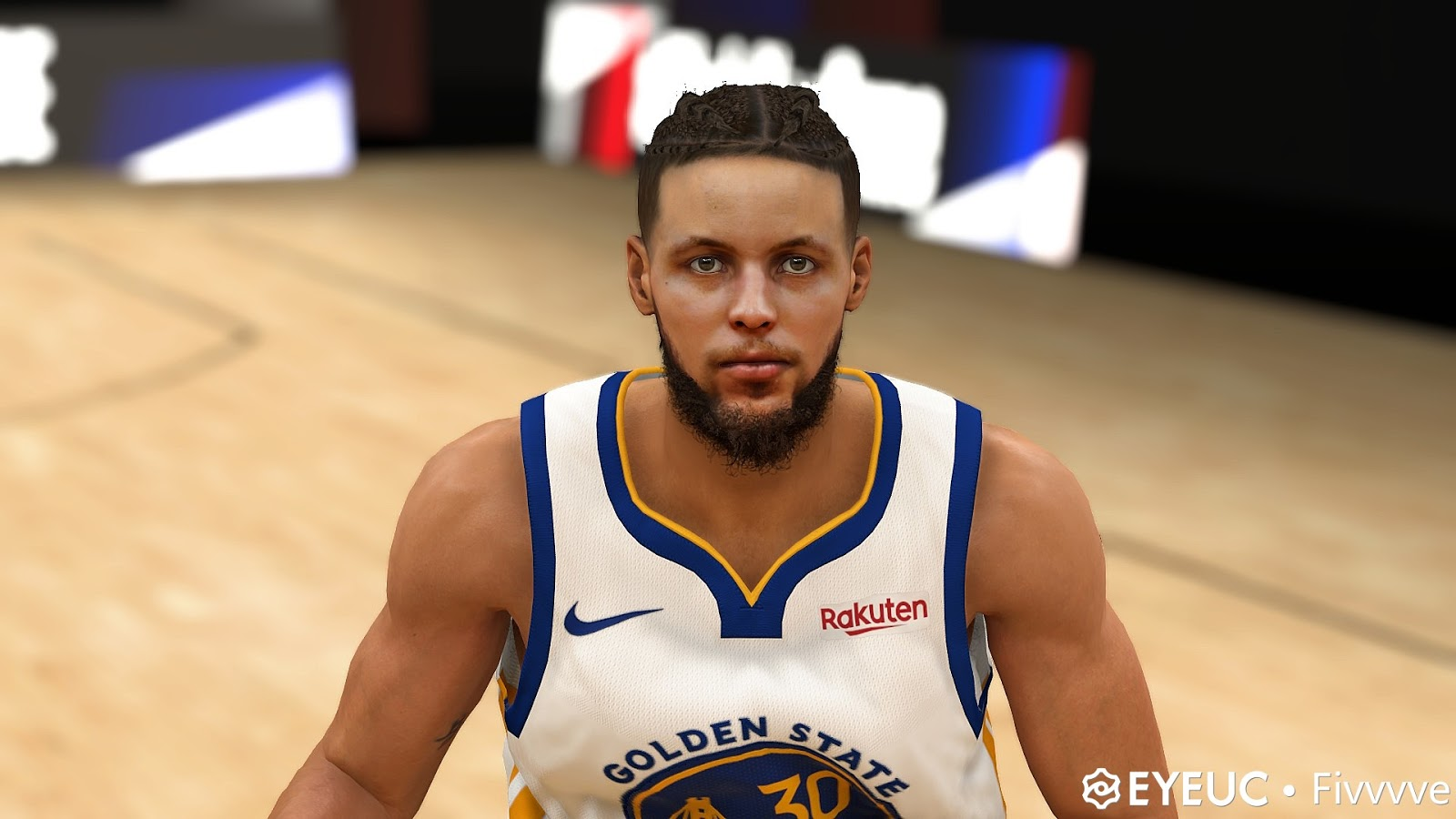 Stephen Curry Cyberface Hair Braid And Body Model V2 By Five For 2k20 Nba 2k Updates Roster Update Cyberface Etc
