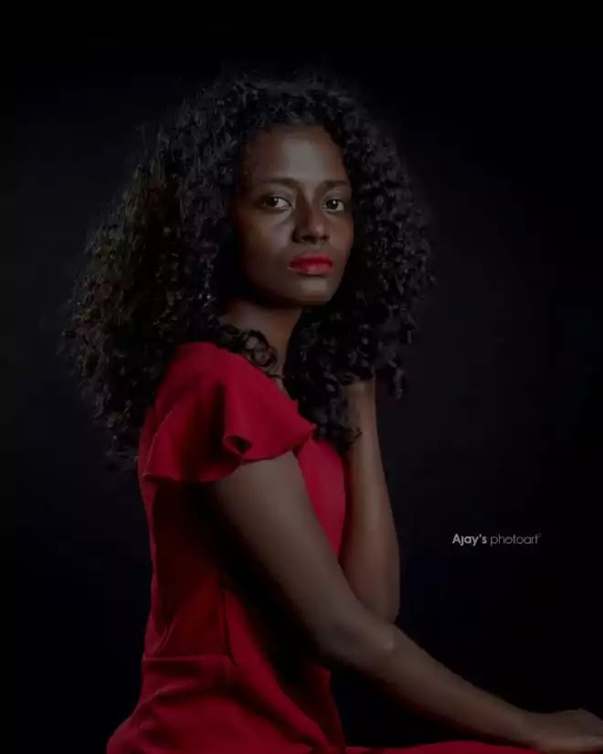Aneesha in red dress, Fashion Photography
