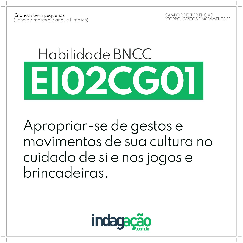 Habilidade EI02CG01 BNCC