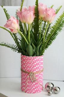Cara Membuat Vas Bunga Cantik Dari Sedotan Plastik Bekas