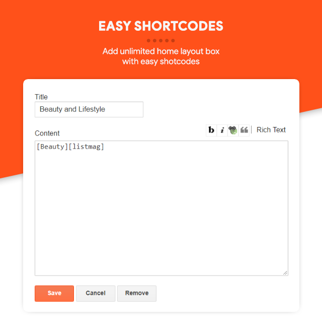 Easy Shortcodes