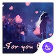 Purple Love Kiss theme & HD wallpapers