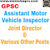 GPSC Assistant Motor Vehicle Inspector, Joint Director & Various Other Posts