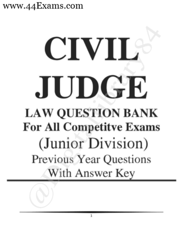 Previous-Year-Questions-with-Answers-For-Civil-Judge-Exam-PDF-Book