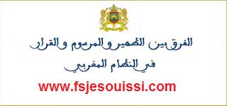 الفرق بين الظهير و المرسوم و القرار في النظام المغربي