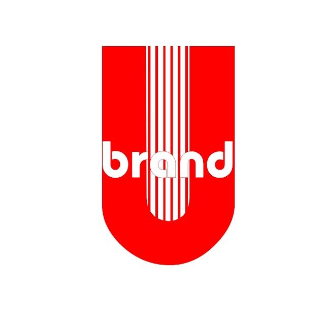 template gratis desain logo u brand
