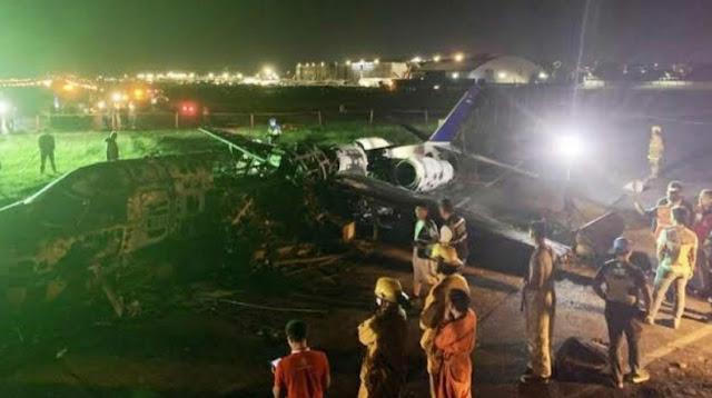 Pesawat Lionair Meledak di Bandara Manila