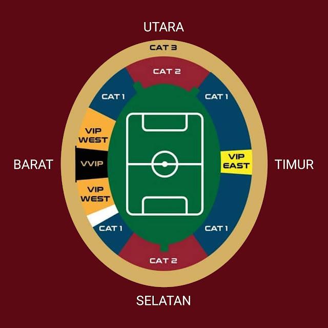 Gambar Peta stadion GBK Indonesia vs malaysia kualifikasi piala dunia