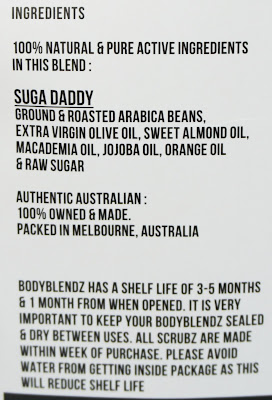 Body Blendz - Suga Daddy Körperpeeling Ingredients, INCIs Inhaltsstoffe