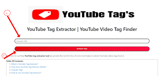YouTube Tag Extractor