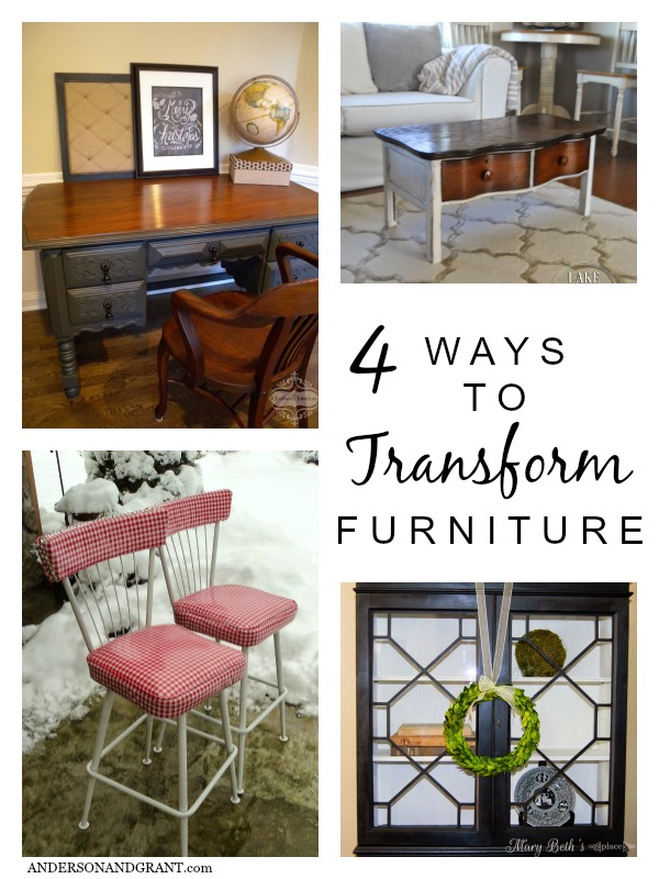 4 Ways to Transform Furniture | Your Turn to Shine Link Party Features on anderson + grant