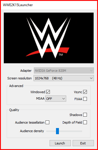 best settings for wwe 2k15 low end PC