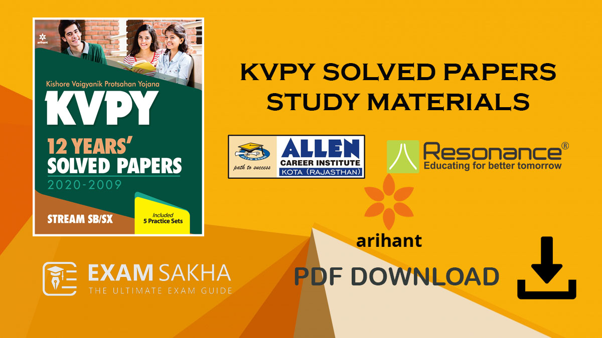 KVPY Study Material by ALLEN Resoance and Arihant