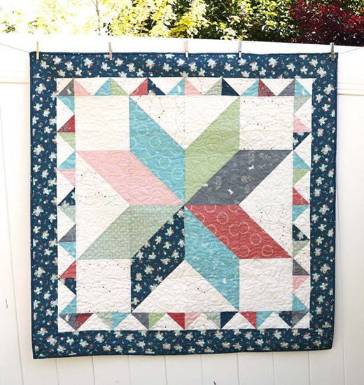 Lone Star Crib Quilt Free Tutorial Designed by Amy Smart of Diary of a Quilter