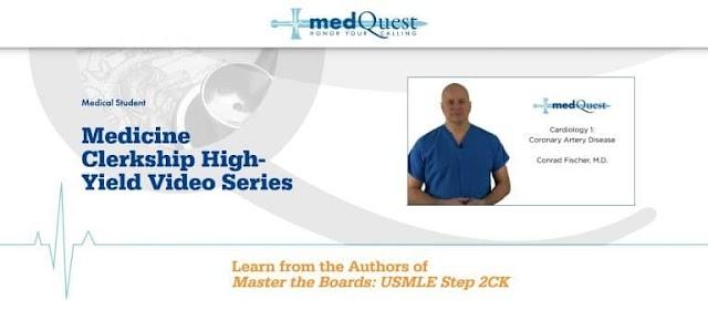 Free MedQuest : Medicine Clerkship High-Yield Video Series 2020