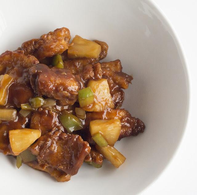 Pollo con salsa agridulce - Masquepasta