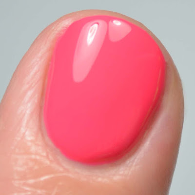 pink nail polish close up swatch