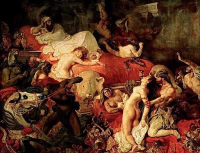 La muerte de Sardanápalo. @Museo del Louvre