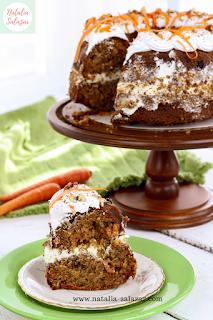 natalia salazar torta zanahoria , recetas pasteleria