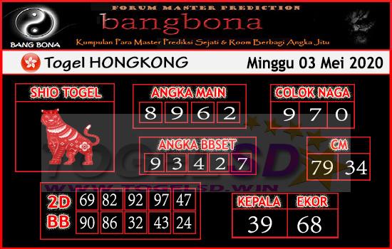 Prediksi HK 03 Mei 2020 - Bang Bona HK