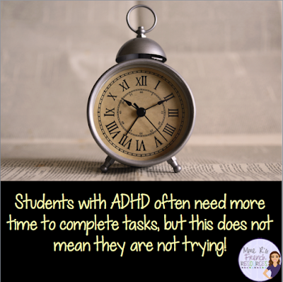 extended time for ADHD students