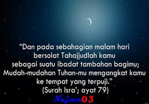 Bacaan Do'a Setelah Shalat Sunat Tahajud