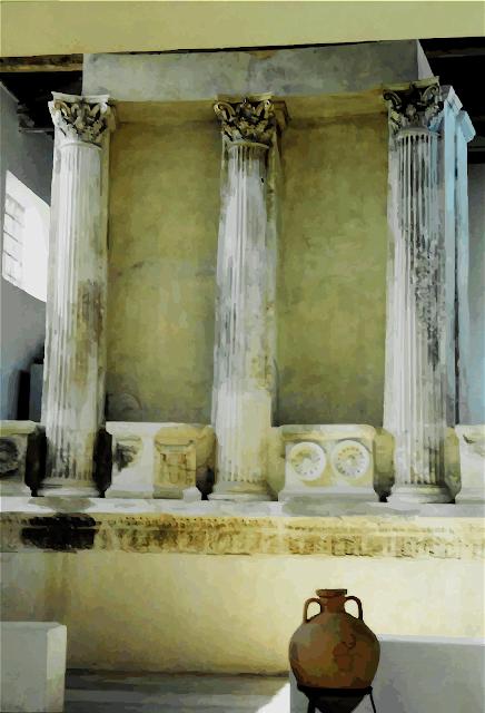 Tempio nel museo di Samotracia