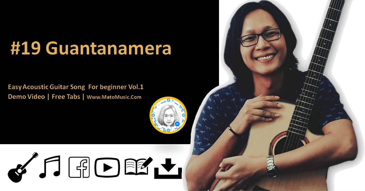 Guantanamera Acoustic Guitar Tabs For Beginner | Video | Tabs by mato music