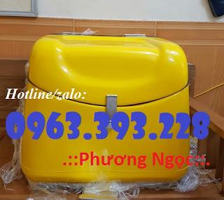 Thùng giao hàng gắn sau xe máy, thùng chở hàng nhựa composite Trung%2B2
