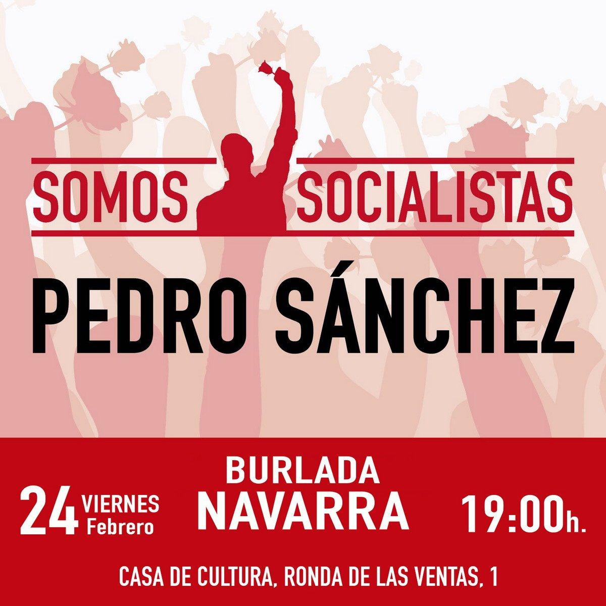 Acto Pedro Sánchez en Navarra