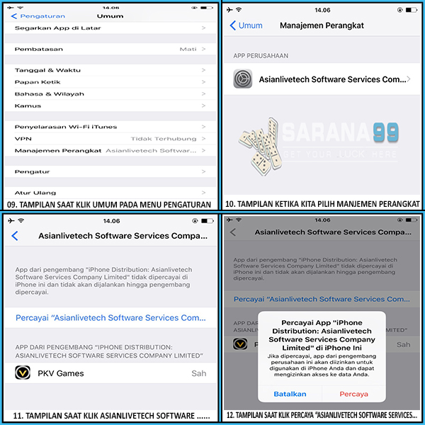SARANA99 - CARA BERMAIN DI IPHONE (IOS)