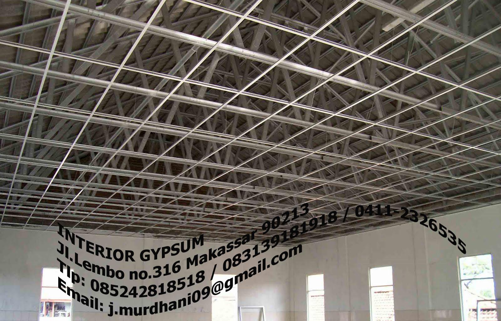 Desain Rangka Plafon Gypsum Sobat Interior Rumah