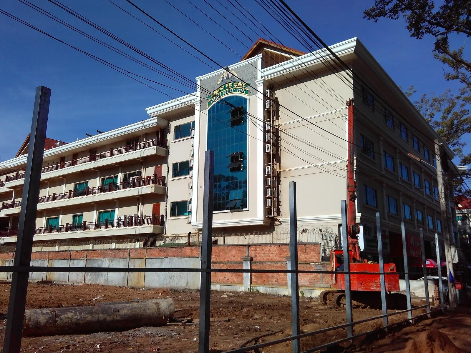 Camboja obras reconstrução